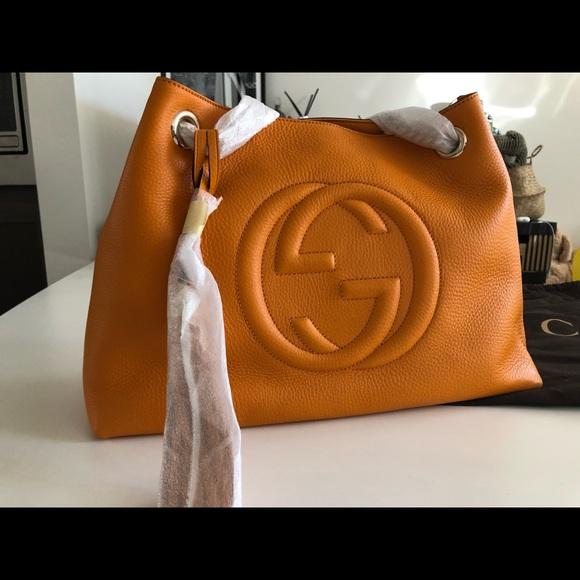 Gucci Handbags - Gucci Soho Leather Chain Shoulder Bag
